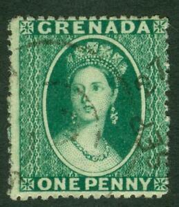 SG 10 Grenada 1873. 1d deep green, clean cut perf 15. Very fine used CAT £50