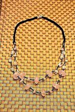 Rose Quartz and Rainbow Beads Necklace