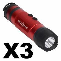 Nite Ize Radiant 3-in-1 LED Mini Flashlight Red 80 Lumens Lantern Light (3-Pack)