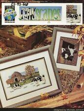 Vintage 1992 Cowscapes Cross Stitch Leaflet - True Colors Cross Stitch