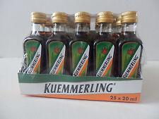 25 Fläschen Kuemmerling a 0,02l Kräuterlikör Kümmerling 35%