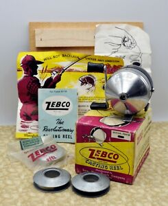 Vintage ZEBCO 'Spinner' 33 in Box w/ Papers + 3 Xtra Spools ~ Zero Hour Bomb Co.