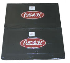 "Peterbilt Motors 24"" x 14"" Heavy Duty Rubber Black Semi Truck Mud Flaps-Pair"