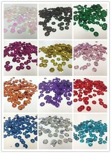 Metallic Finish Faceted Cup Sequins 5mm Lot of 1600 PCS, 8mm lot of 800 PCS