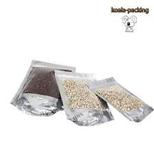 16*24cm 50x Ziplock Front Clear ZipLock Mylar Aluminum Foil Bag Food Grade Pouch