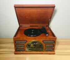 CROSLEY CR66 5-IN-1 RECORD PLAYER (PHONO)/ AUX/ TAPE/ CD/ RADIO TESTED! WORKS!