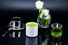 2x Espresso- Tasse Edelstahl doppelwandig mit Untertasse, thermo Tassen Geschirr