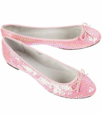 5bb194c1b47 TOPSHOP PINK ALL OVER SEQUIN BALLET FLAT BOW PUMPS SHOES 6 39 8.5 NEW