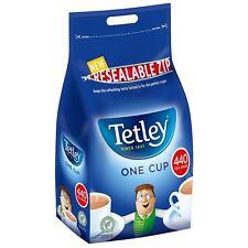 Tetley One Cup 440 Black Tea Bags Bulk Pack 1kg Resealable Zip Bag