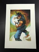 Street Fighter Ryu Capcom Jo Chen Art Limited Edition Print Mint Condition