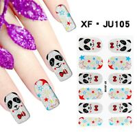 Polish Nail Art FULL Stickers Decals Foils Adhesive Wraps with Nail file 105#
