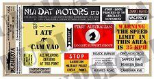 Diorama Accessory- 1/35 Australian Base Signs, Nui Dat  - Vietnam War - 2 sheets