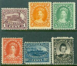 EDW1949SELL : NEW BRUNSWICK 1860-63 Scott #6-11 F-VF, Mint No Gum. Catalog $290.