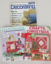 Set/3 Craft/DIY Magazines: Sewing, Crochet, Quilting, Jewelry, Woodwork, Home