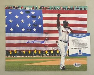 David Ortiz Signed 8x10 Photo Autographed Beckett BAS COA Boston Red Sox