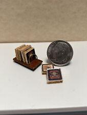 Vintage Artisan Brooke Tucker Whiskey Coaster Set Dollhouse Miniature 1:12