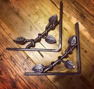 Wrought Iron shelf brackets (PAIR)