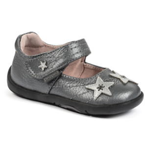 pediped Grip n Go Girls Starlite Pewter Mary Jane Shoes Toddler US Size 7/ EU 23