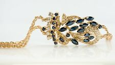 Sapphire Diamond Bracelet 18K Yellow Gold September Birthstones White Diamonds