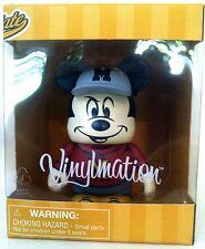 "DISNEY VINYLMATION 3"" SPORTS MASCOT MICKEY MOUSE BASEBALL COLLECTIBLE TOY FIGURE"