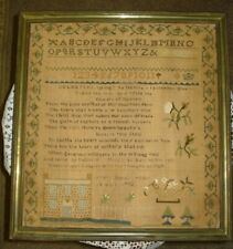 Georgian Rare Alphabet & Poem with pictures Sampler dated 1792