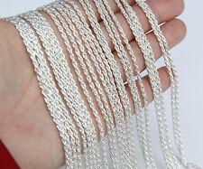 Wholesale Bulk 5 pcs Silver Plated Brilliant Necklace Chain 45cm Quality