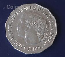50 Cent Coin 1981 Charles & Diana Royal Wedding Australian 50c from circulation