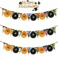 Hanging Bunting Ghost Pumpkin Garland Banner Props Halloween Party Decoration