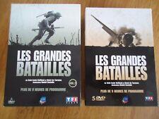 LOT 2 COFFRETS  11 DVD * LES GRANDES BATAILLES * 2e GUERRE MONDIALE DOCUMENTAIRE