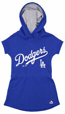 Majestic MLB Girls Kids Los Angeles Dodgers Hooded Celebrate Dress, Blue