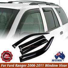 4pcs Smoke Weather Shields Weathershields Window Visor For Ford Ranger 2006-2011