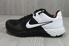 55 Nike Alpha Huarache Elite 2 Baseball Turf Shoes Oreo Mens Size 10 AJ6877-004