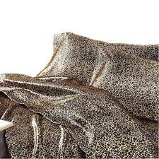 Satin Sheet Set KING Size Leopard Print Animal Safari Luxury Silk Feel Bedding