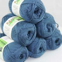 Sale Lot 6 ballsx50g Super Soft Bamboo Cotton Baby Hand Knitting Crochet Yarn 25