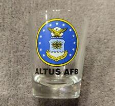ALTUS AFB Shot Glass Air Force USA