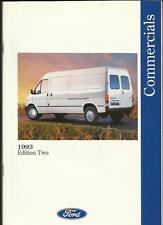 FORD TRANSIT VAN/BUS/CHASSIS CAB, COURIER,FIESTA & ESCORT VAN,P100 BROCHURE 1993