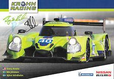 KROHN-JONSSON/Wirdheim signé Krohn Racing, PROMO Carte ELMS série 2016