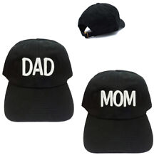 0fea95cb837 MOM AND DAD Black 100% Cotton Baseball Caps Hats Mommy   Daddy Caps Hats