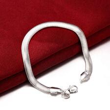 925 sterling Solid silver bracelet Flat snake bones Bracelets #238