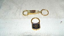FIRST CITIZENS BANK & NEWTON MFG. CO. BRASS KEYCHAINS VINTAGE FREE USA SHIP