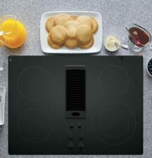 "New listing Ge Profile 30"" Black Downdraft Electric Cooktop Pp9830Djbb New In Box"