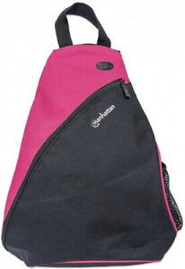 Manhattan DASH BACKPACK SLINGBAG 12IN BLACK/PINK Padded Internal Pocket