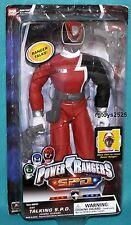 """Power Rangers SPD RED 12"""" Talking Ranger Factory Sealed New 2004"""