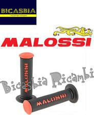 7632 - MANOPOLE MALOSSI ROSSO NERE DM 22/25 CON CHIUSURA A LATO SCOOTER 50