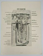 Vintage Westinghouse Fast Flux Test Facility Diagram Page - FFTF