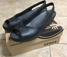 Crocs Womens Mabyn Mini Wedge, Black,  SIZE 8 new in box