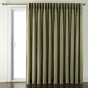 JC Penney Supreme Pinch-Pleat Back Tab Sage Green Patio Curtain Panel 100 x 84