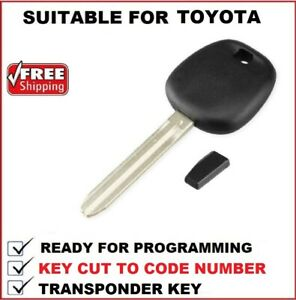 Transponder Car key Cut to Code Suitable for Toyota Avalon 2000 - 2005 Toy43-4C