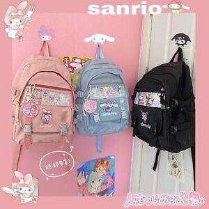 Kawaii Student Large Kuromi Backpack Cinnamoroll School Bag My Melody Nylon Bag