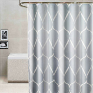 Light Gray Fabric Shower Curtain Liner Machine Washable Bathroom Shower Curtain